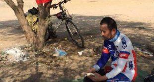 Ilustrasi Muhammad, Pria asal Xinjiang yang bersepeda menuju Mekkah/ Sabq