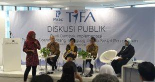 Hasil penelitian PIRAC (Public Interest Reserch Advocacy Center) bekerja sama dengan Yayasan TIFA mengenai Implementasi dan Dampak Peraturan Daerah tentang Tanggung Jawab Sosial Perusahaan atau yang dikenal sebagai Perda CSR. Dipaparkan di acara diskusi publik yang digelar pada hari Rabu (14/12/2016) di Paramadina Graduate School, Jakarta.
