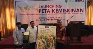 Launcing Buku Peta Kemiskianan besutan IDEAS di Jakarta, Kamis (19/1/2017)