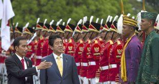 PM Jepang Shinzo Abe dan Presiden Jokowi di Bogor, 14 Januari