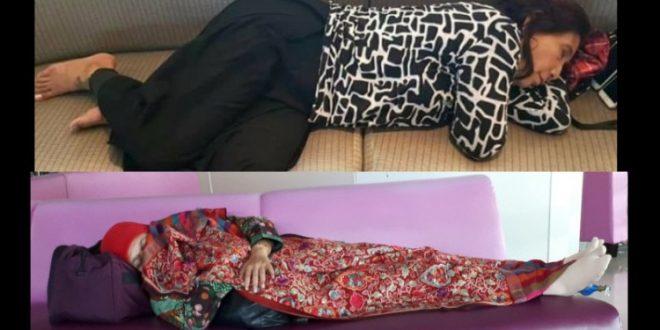 Hasil gambar untuk ibu menteri susi dan khofiah tidur